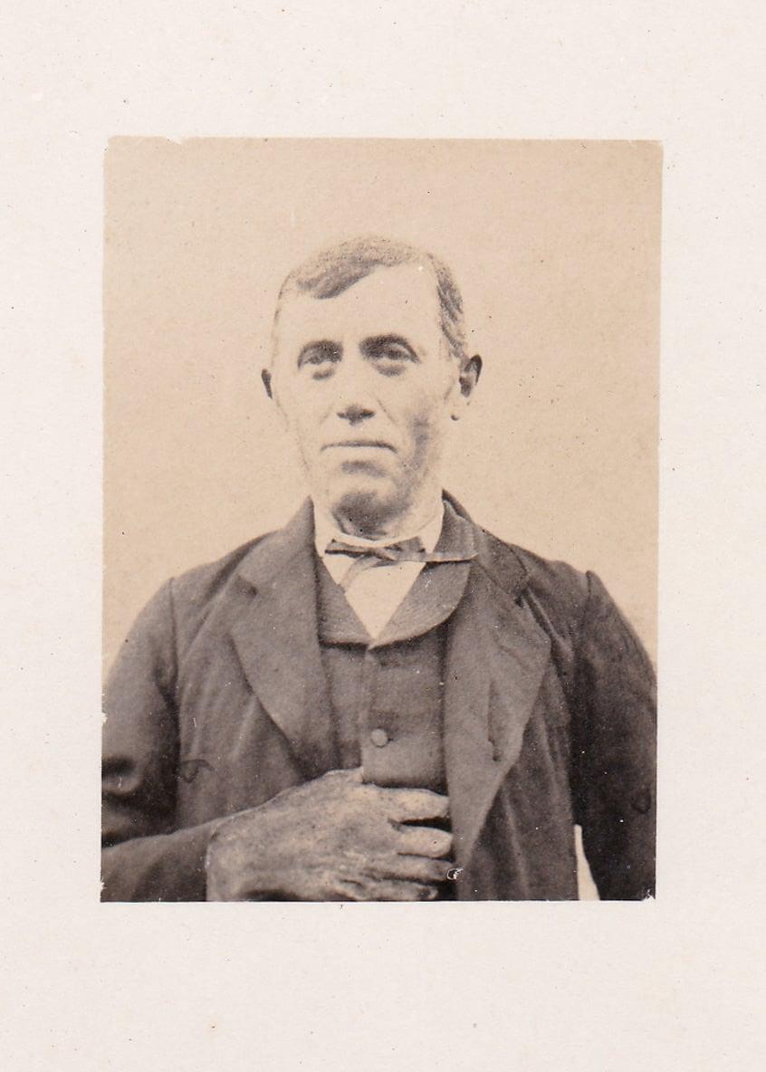 portrait d'un homme blessé. Vers 1855