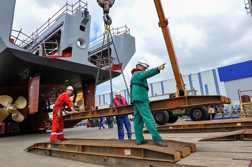 Chantier naval à Lorient
